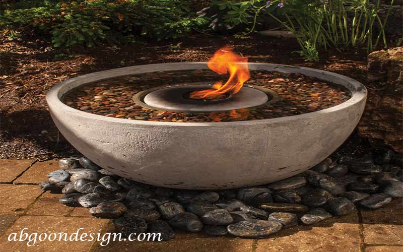 نمونه ترکیب آب نما آب و آتش