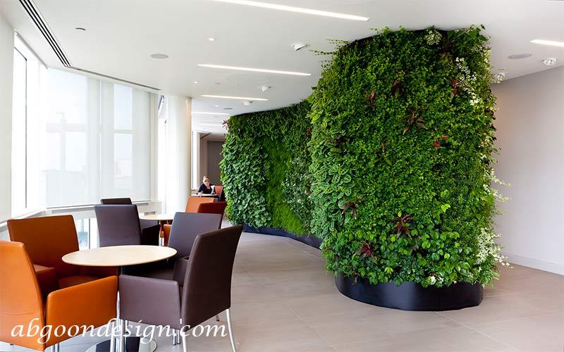 نمونه کار دیوار سبز