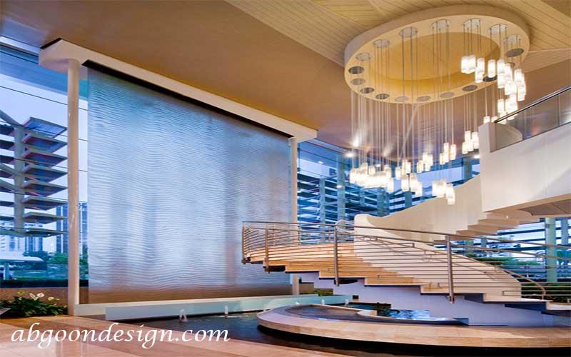نمونه کار آبنما شیشه ای|آبگون دیزاین