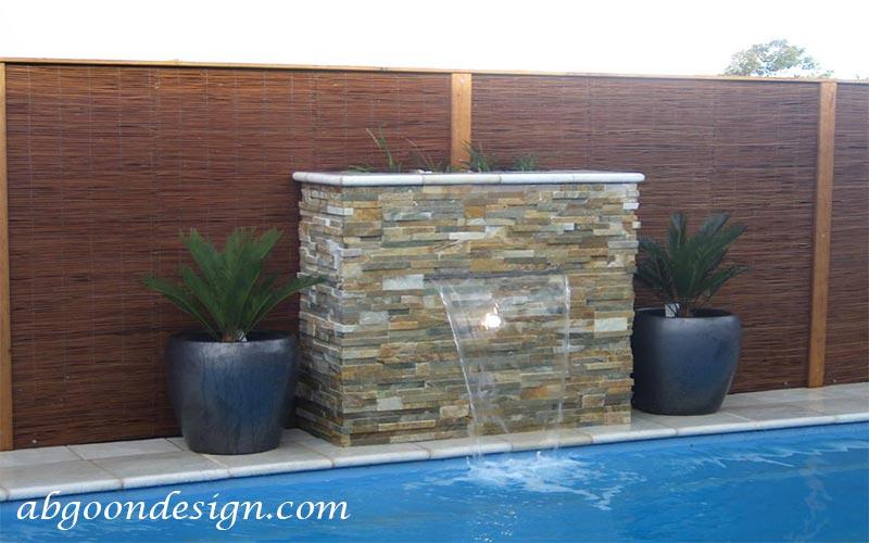 نمونه آبنما دیواری و پرده ای|آبگون