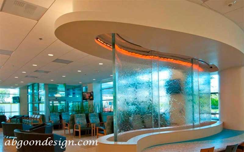 آبنما شیشه ای بسیار زیبا|آبگون دیزاین