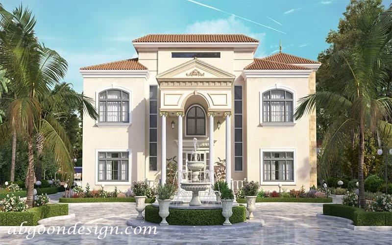 طراحی ویلا کلاسیک|آبگون دیزاین