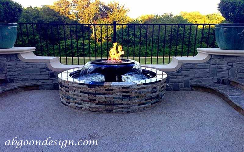 نمونه کار آبنما آب و آتش |آبگون دیزاین