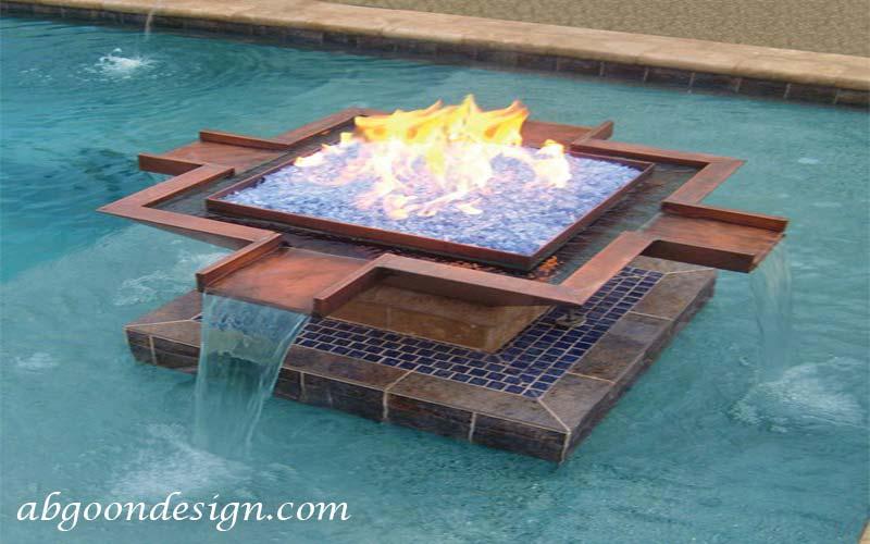 نمونه آبنما آب و آتش |آبگون دیزاین