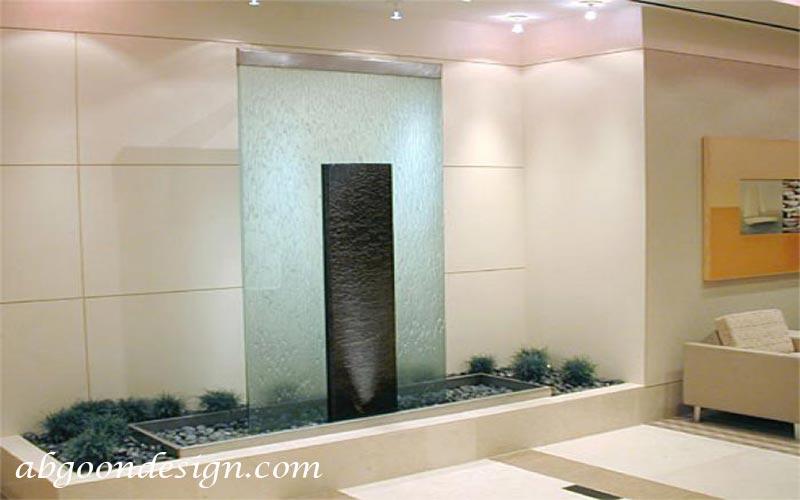 طراحی آبنما شیشه ای