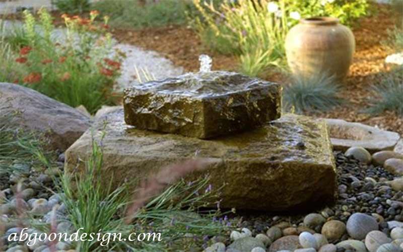آبنما سنگی خانگی کوچک|آبگون دیزاین