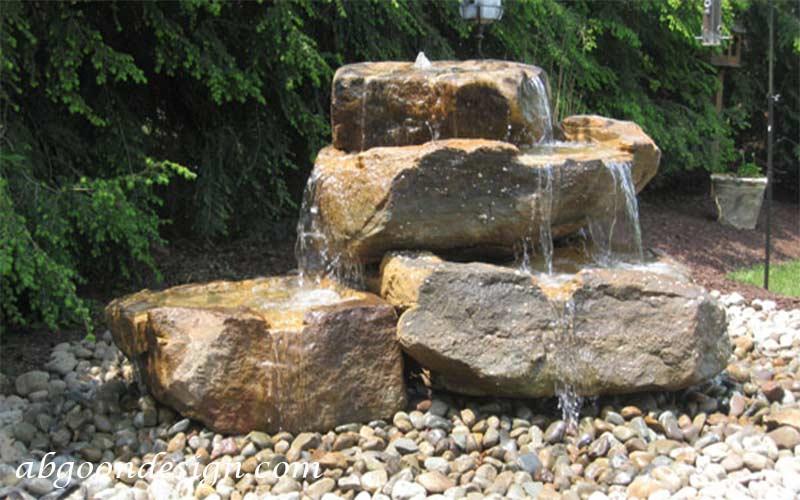 نمونه کار آبگون آبنما صخره ای و باغی