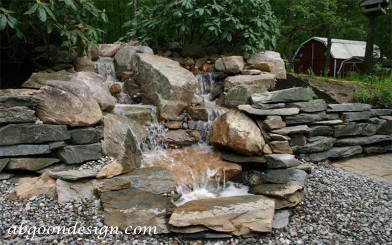قیمت ساخت آبنما صخره ای و باغی