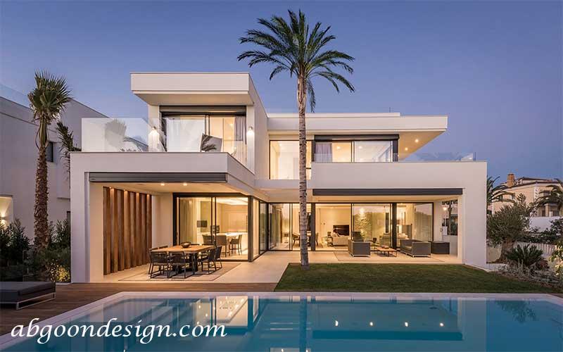 طراحی ویلا مدرن|آبگون دیزاین