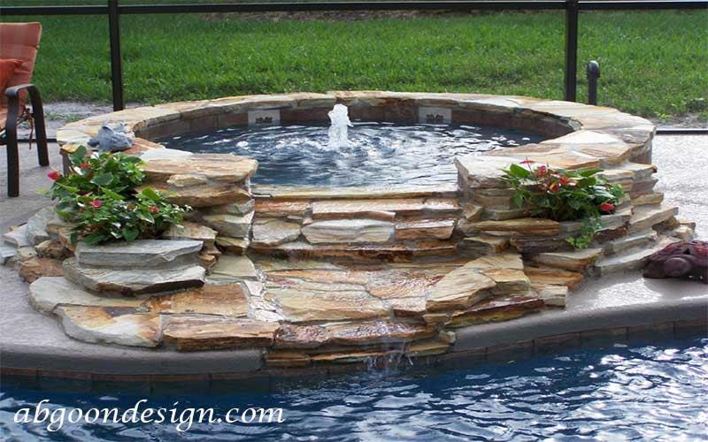 ساخت آبنما صخره ای و باغی|آبگون