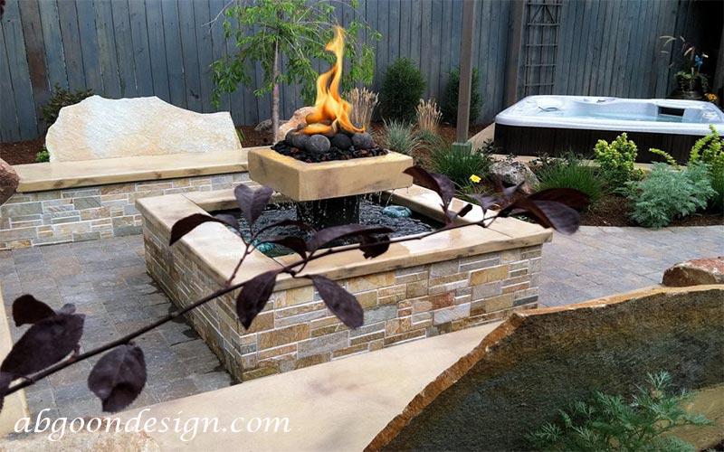 آبنما آب و آتش بسیار زیبا