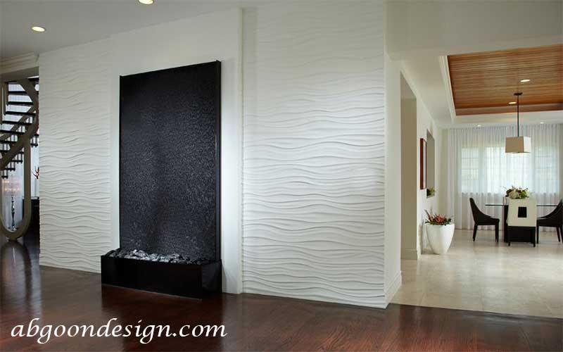 طراحی آبنما خانگی شیشه ای