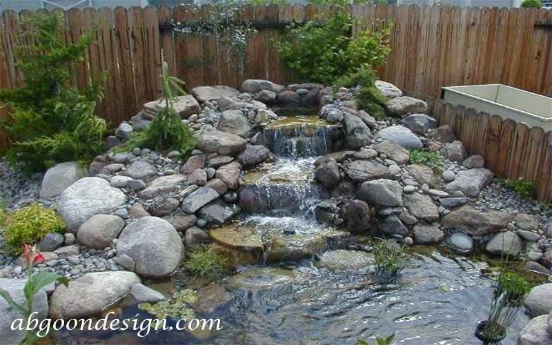 آبنما صخره ای و باغی چیست |آبگون دیزاین