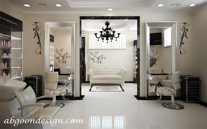 طراحی آرایشگاه زنانه|آبگون دیزاین