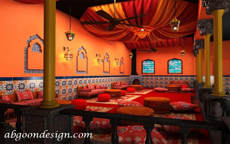 طراحی رستوران مراکشی