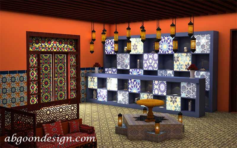 طراحی داخلی رستوران مراکشی|آبگون دیزاین