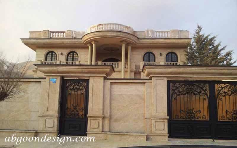 طراحی نمای رومی ساختمان ویلایی|آبگون دیزاین