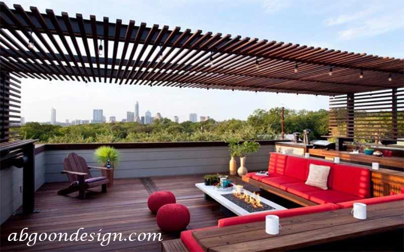 طراحی داخلی تراس و بالکن |آبگون دیزاین