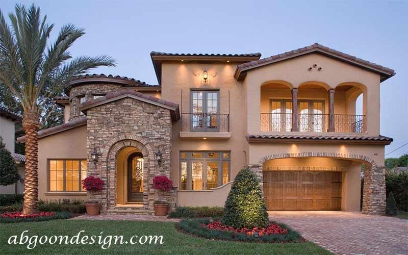 طراحی نمای خانه ویلایی دوبلکس|آبگون دیزاین