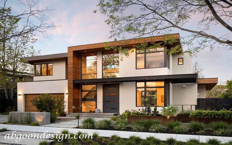 طراحی نمای مدرن ساختمان ویلایی|آبگون دیزاین