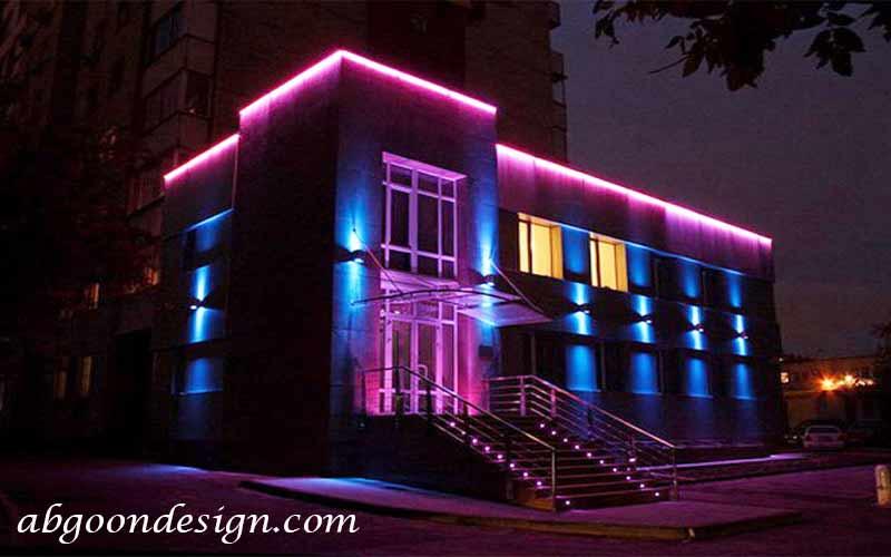 نورپردازی نمای ساختمان ویلایی|آبگون دیزاین