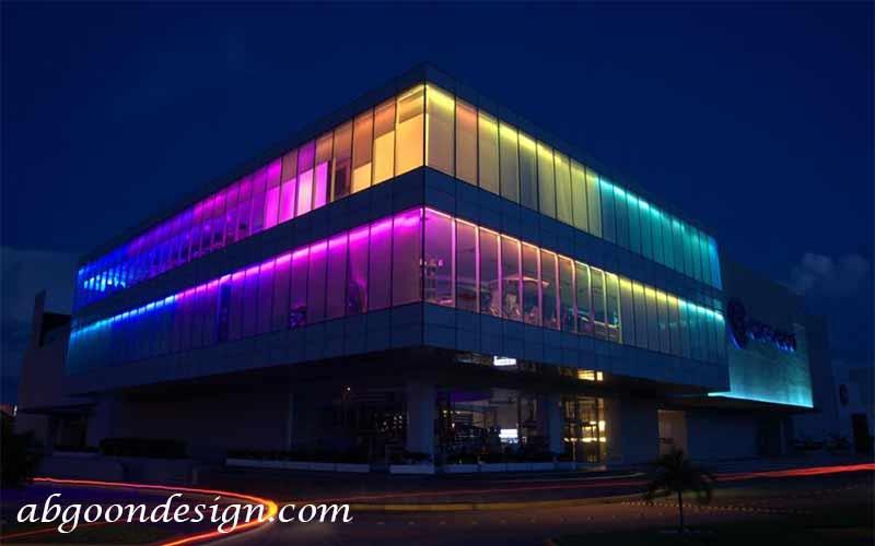 نورپردازی نمای ساختمان اداری|آبگون دیزاین