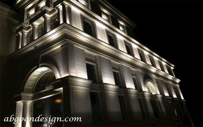 نورپردازی نمای ساختمان کلاسیک|آبگون دیزاین