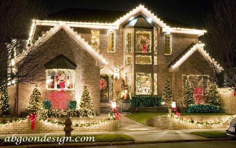 نورپردازی نمای ساختمان ویلایی|آبگون