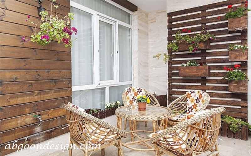 طراحی داخلی پاسیو حیاط خلوت پابگون دیزاین