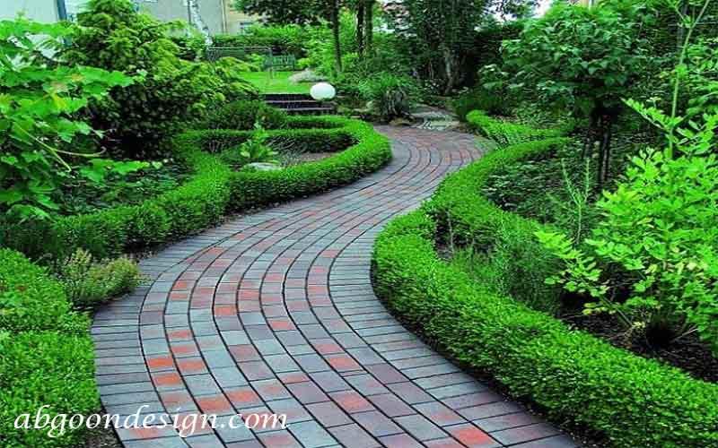 ایده طراحی لبه باغچه با گیاهان|آبگون دیزاین