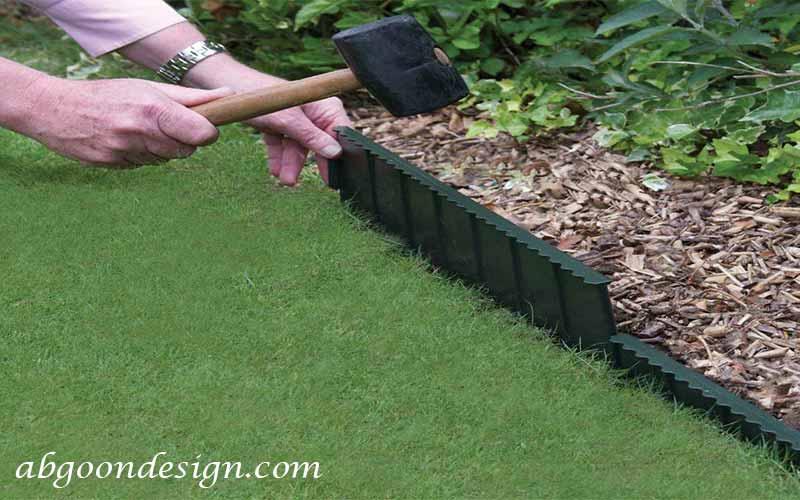 طراحی مرزبندی باغچه با پلاستیک