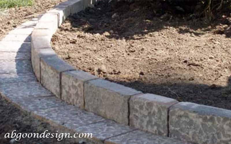 طراحی حاشیه باغچه با بلوک های سیمانی|آبگون دیزاین