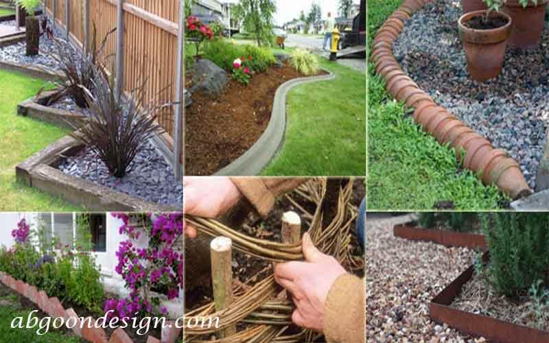 ایده های مرزبندی باغچه  و ایجاد لبه