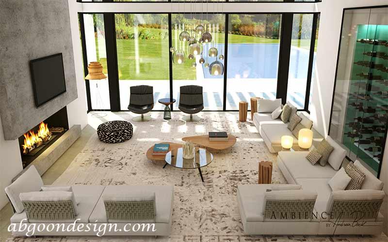 طراحی فضای داخلی ویلای کوچک|آبگون دیزاین