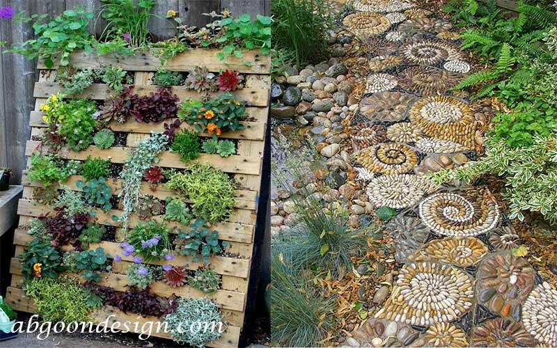 تزیین باغچه و ساخت مسیر