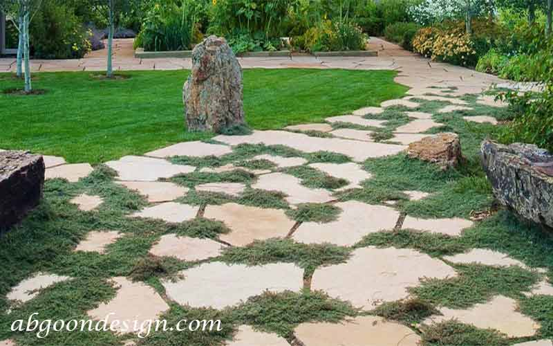 طراحی باغچه و مسیر باغچه