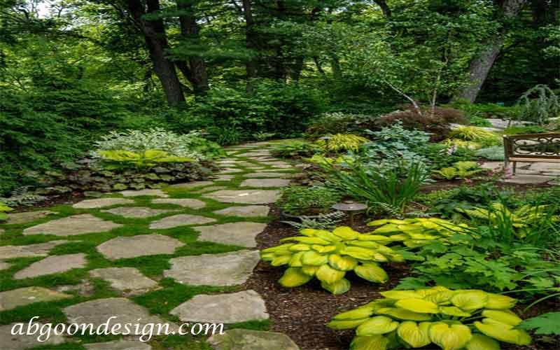 دیزاین مسیر باغ و باغچه