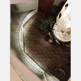 پروژه آبنما شیشه ای در تالار پذیرایی