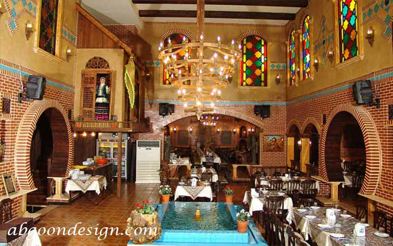 طراحی فضای داخلی رستوران سنتی|آبگون