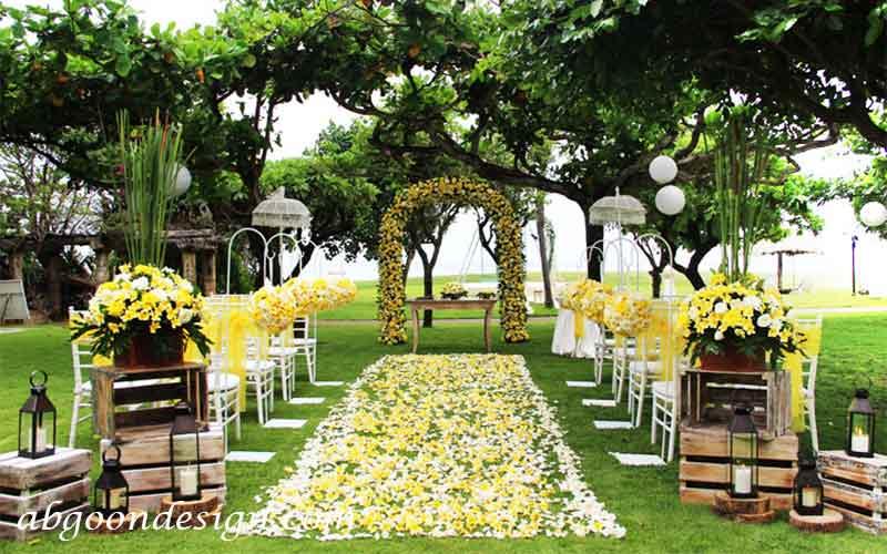 طراحی و اجرای باغ عروسی