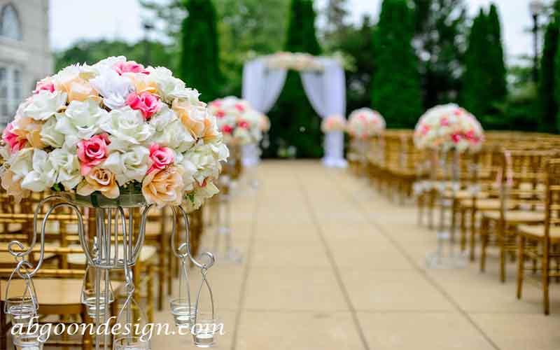 طراحی دکوراسیون باغ عروسی