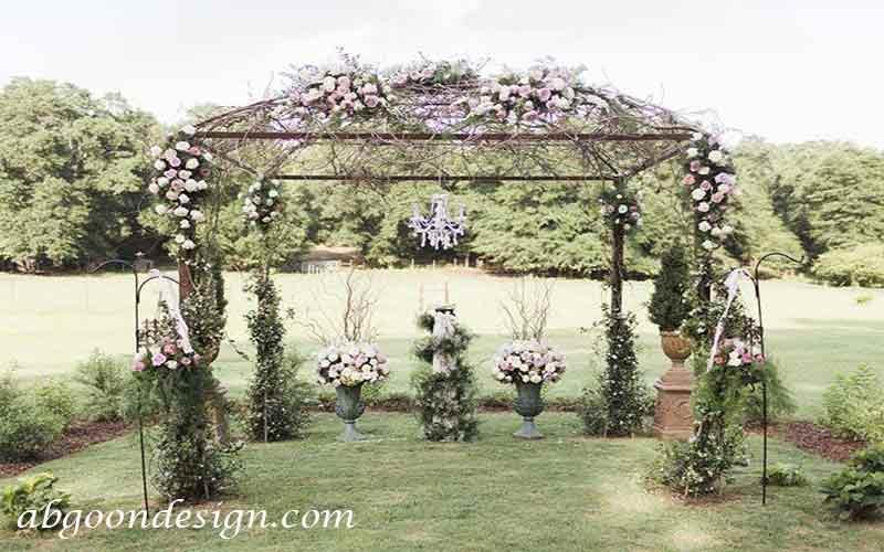 طراحی باغ تالار عروسی|آبگون دیزاین