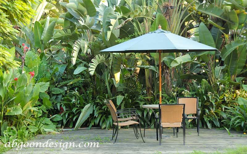 محوطه سازی حیاط ویلا|آبگون دیزاین