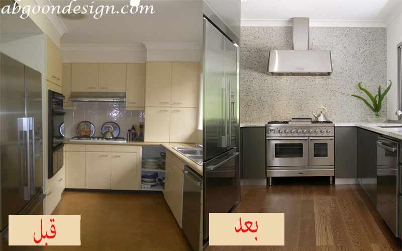 نوسازی و بازسازی آشپزخانه|آبگون دیزاین