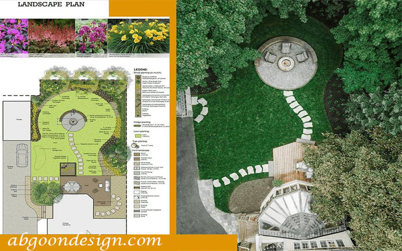 طراحی پلان محوطه سازی