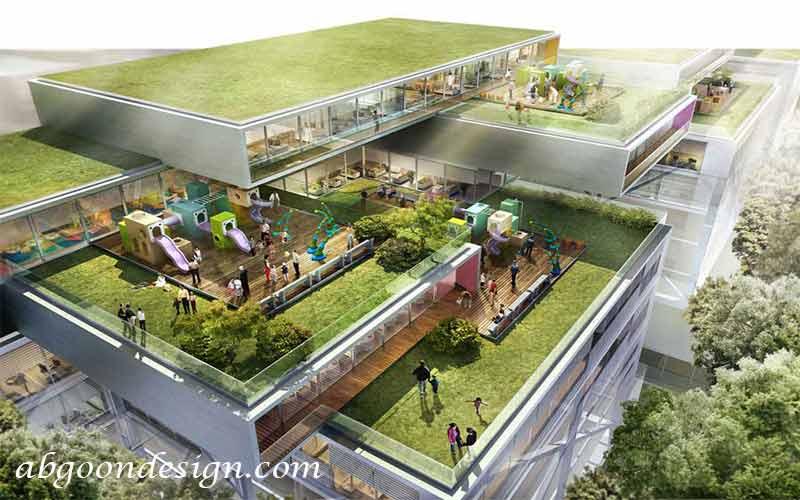 پلان طراحی محوطه |آبگون دیزاین