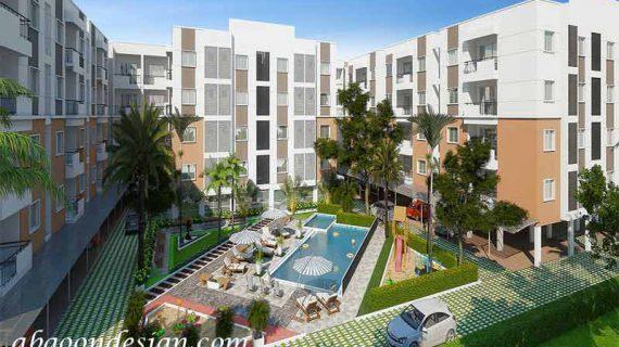 محوطه سازی مجتمع مسکونی