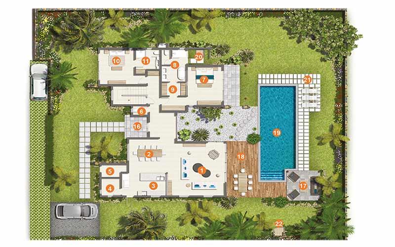 نقشه اولیه ویلا-طراحی پلان|آبگون دیزاین