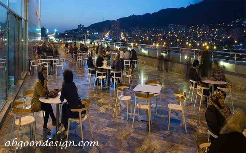 رستوران روف گاردن تهران|آبگون دیزاین