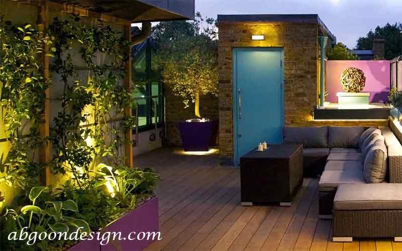 دیزاین تراس سبز-تراس گاردن|آبگون دیزاین